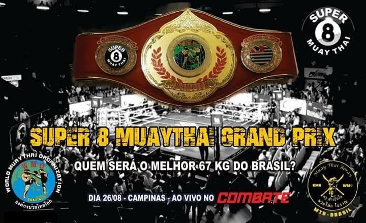 Max Fight promoverá GP Super 8 de muaythai em Campinas