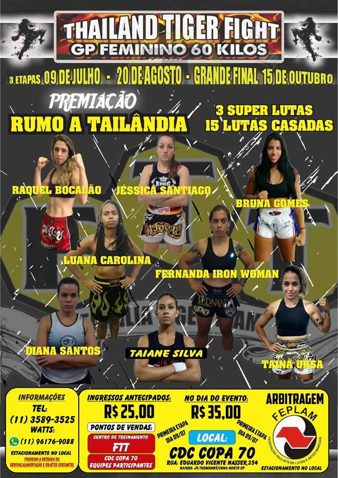 GP Feminino no Thailand Tiger Fight