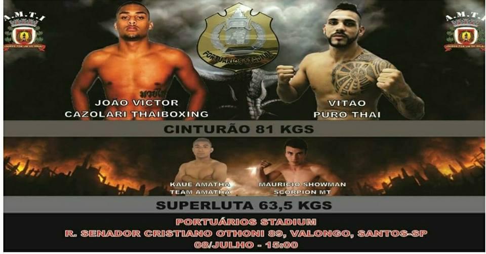 Vitão vs João Victor pelo cinturão 81kg do Portuários