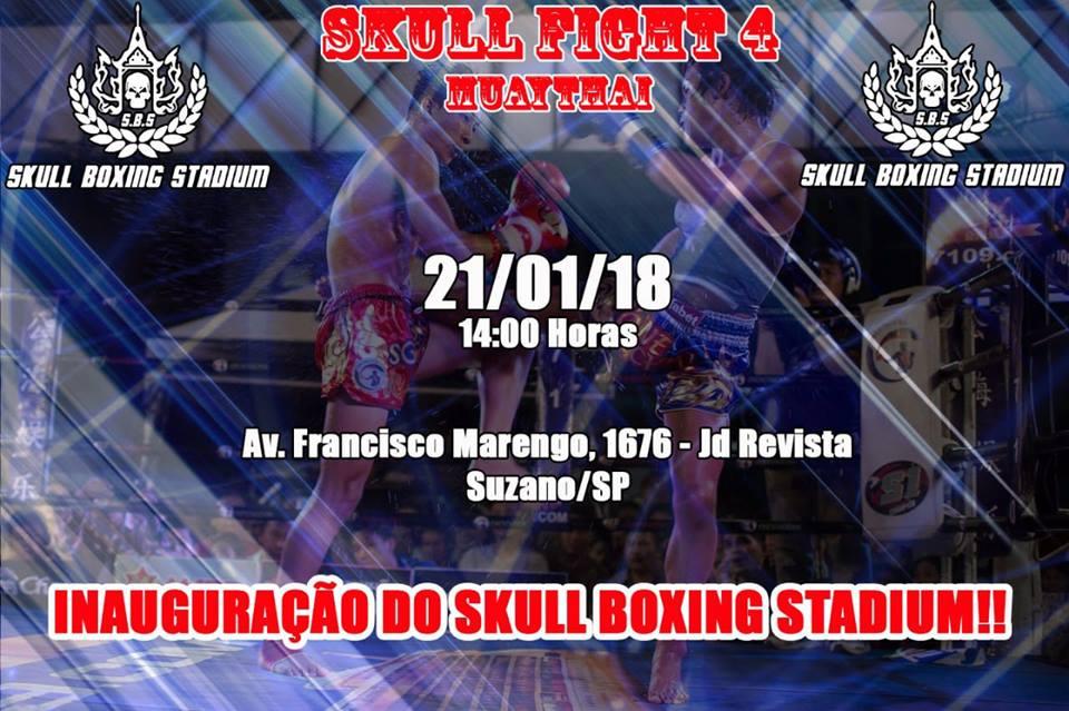 Card provisório de inauguração do Skull Stadium