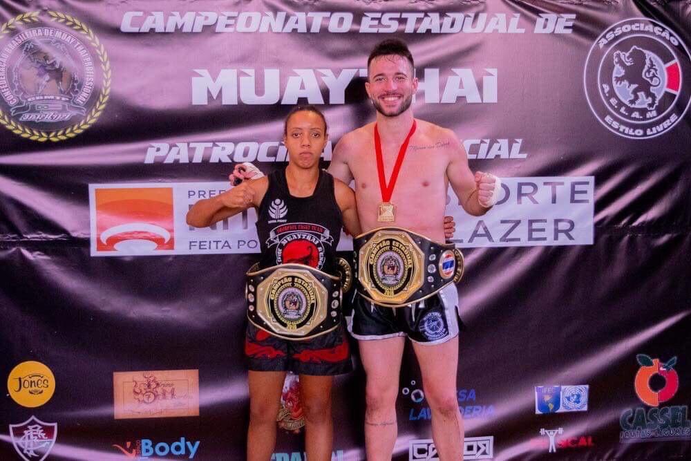 Guilherme Garcia e Janaina Soares são campeões estaduais pela CBMTP