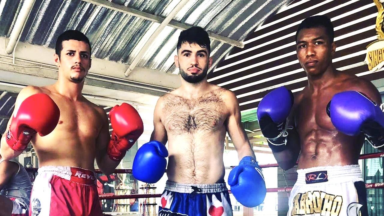Rafi e Cajaiba treinam juntos em Bangkok